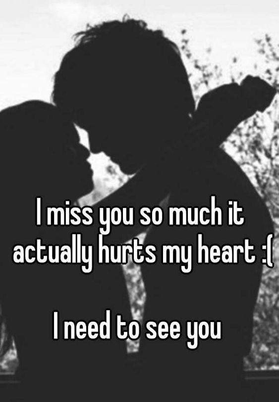 i miss you it hurts