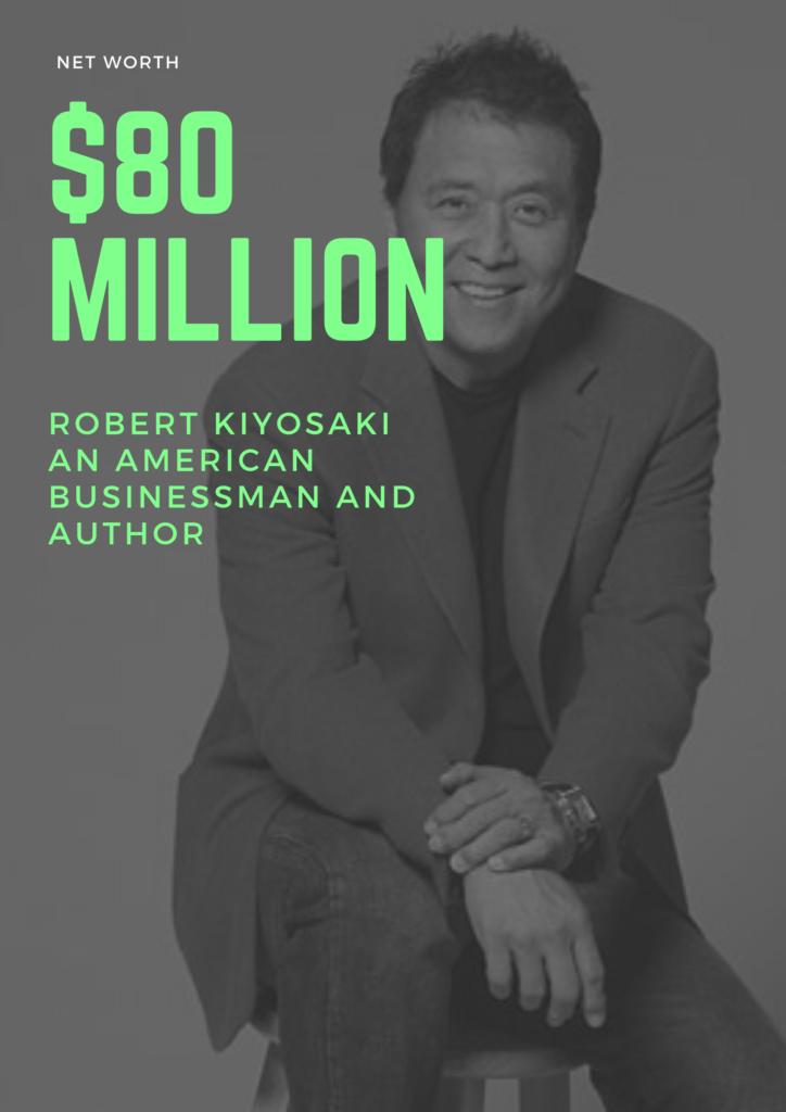 $80 Million - Net worth of Robert Kiyosaki an American businessman and author