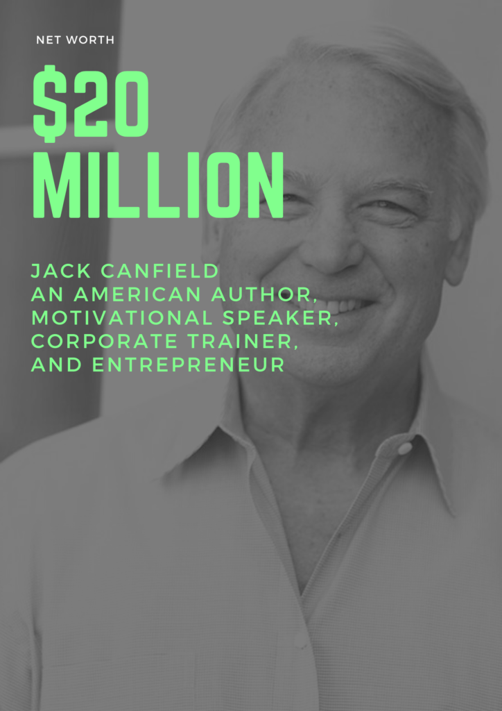 $20 Million - Net worth of Jack Canfield an american author, Corporate Trainer and Entrepreneur