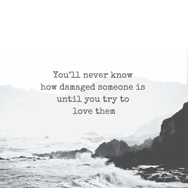You'll never know how damaged someone is until you try to love them - Depression Quotes